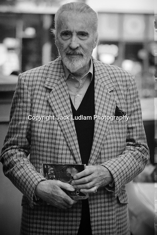 Christopher Lee aged 85 pictured in London West End