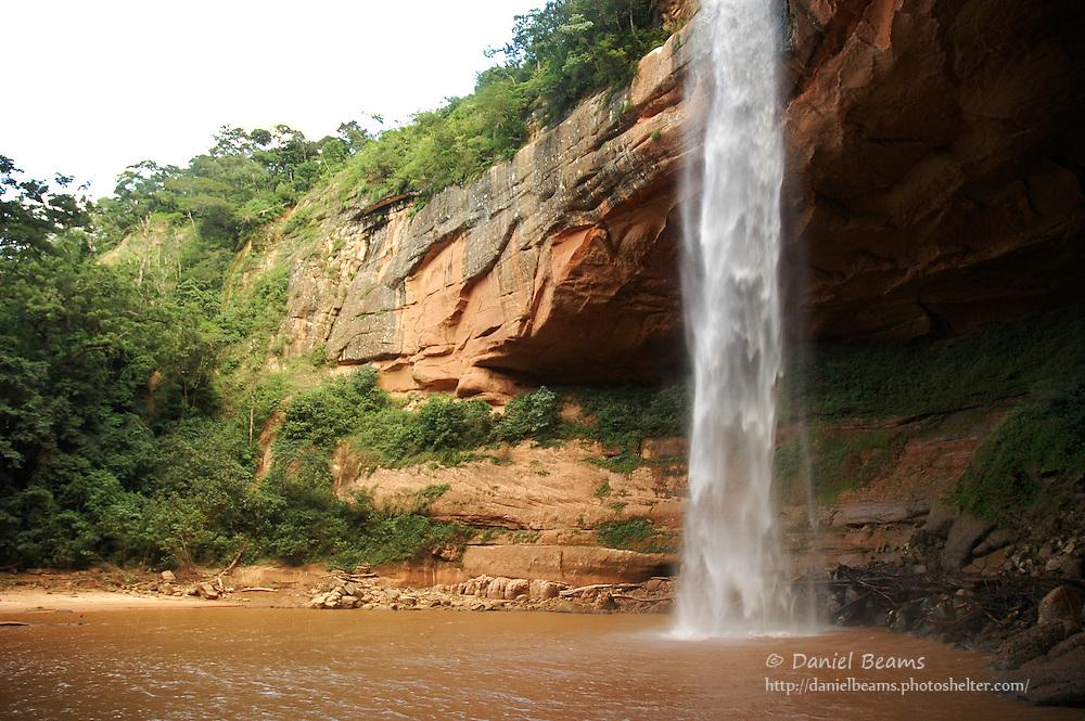 Jardin de als Delicias waterfall, Santa Cruz, Bolivia