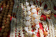 Shell necklaces, Takapoto, Tuamotu Islands, French Polynesia<br />