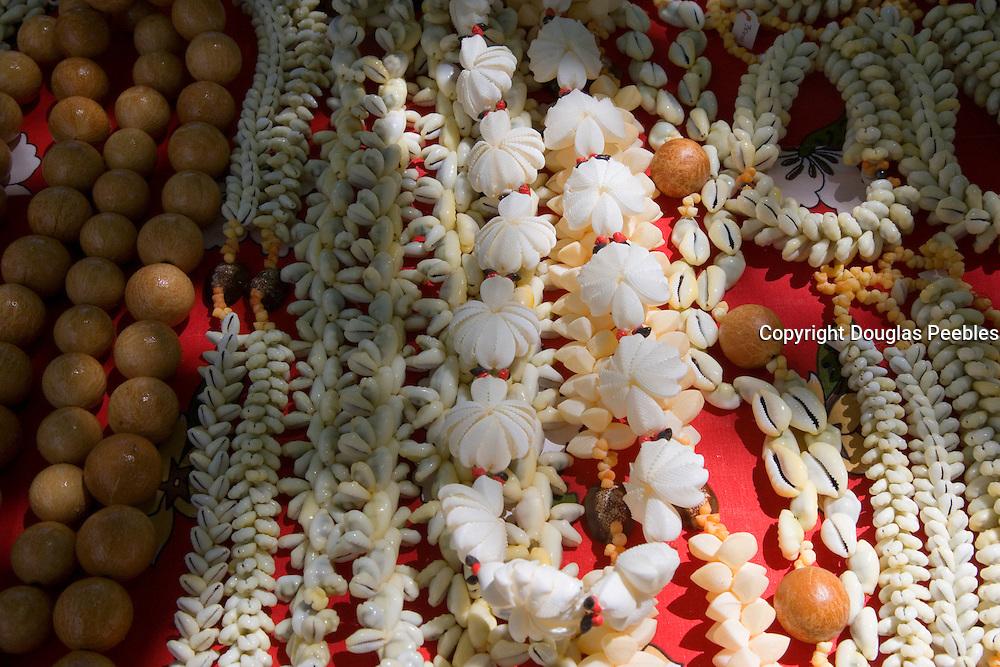 Shell necklaces, Takapoto, Tuamotu Islands, French Polynesia<br />