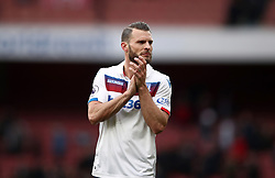 Stoke City's Erik Pieters gestures to the fans after the Premier League match at The Emirates Stadium, London.