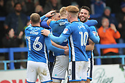 GOAL Ian Henderson celebrates scoring 3-2 during the EFL Sky Bet League 1 match between Rochdale and Portsmouth at Spotland, Rochdale, England on 7 April 2018. Picture by Daniel Youngs.