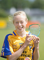 Cliona Blake who was the Player of the match  for Clare U 14 who beat Sligo in the All ireland U14 C championship final in Kilkerrin-Galway Photo: Andrew Downes..