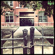 Robert Emmet Elementary, 5500 W Madison St in Austin. Opened 1913, closed 2013. Reflecting the neighborhood&rsquo;s large Irish population when it opened, Emmet is named for an 18th century Irish nationalist who rebelled against British rule. Photographed Monday, Aug. 26, 2013 with an iPhone and the Instagram filter Brannan. (Brian Cassella/Chicago Tribune) B583150507Z.1 <br /> ....OUTSIDE TRIBUNE CO.- NO MAGS,  NO SALES, NO INTERNET, NO TV, CHICAGO OUT, NO DIGITAL MANIPULATION...