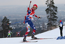 10.03.2016, Holmenkollen, Oslo, NOR, IBU Weltmeisterschaft Biathlion, Oslo, 20km, Herren, im Bild Ole Einar Bjoerndalen (NOR) // during Mens 20km individual Race of the IBU World Championships, Oslo 2016 at the Holmenkollen in Oslo, Norway on 2016/03/10. EXPA Pictures © 2016, PhotoCredit: EXPA/ Newspix/ Tomasz Jastrzebowski<br /> <br /> *****ATTENTION - for AUT, SLO, CRO, SRB, BIH, MAZ, TUR, SUI, SWE only*****