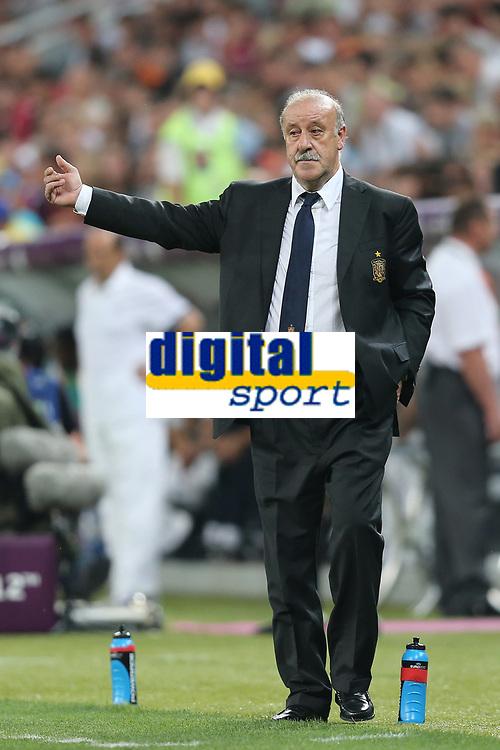FOOTBALL - UEFA EURO 2012 - DONETSK - UKRAINE  - 1/4 FINAL - SPAIN v FRANCE - 23/06/2012 - PHOTO PHILIPPE LAURENSON /  DPPI - VICENTE DEL BOSQUE (ESP)