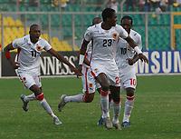 Photo: Steve Bond/Richard Lane Photography.<br /> Egypt v Angola. Africa Cup of Nations. 04/02/2008. Manucho (C, 23) celebrates his strike
