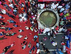 September 29, 2018 - Xinyang, Xinyang, China - Xinyang, CHINA-Thousands of people share fish soup at Fishing Festival in Xinyang, central China's Henan Province. (Credit Image: © SIPA Asia via ZUMA Wire)