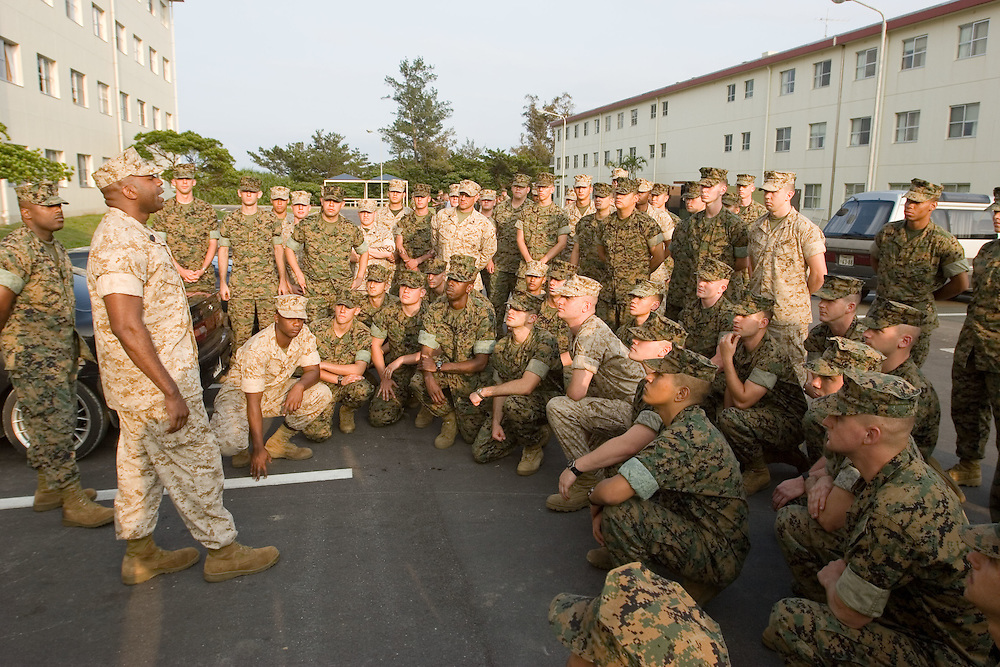 Marines at Camp Schwab general shots on base and during clean up in housing unitsbarracks