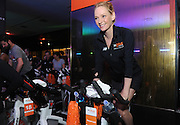 Uma Thurman rides at a 2016 Cycle for Survival event at Equinox Bryant Park in New York, Sunday, March 13, 2016. Cycle for Survival is the national movement to beat rare cancers. 100 percent of funds raised go directly to rare cancer research led by Memorial Sloan Kettering. More than $100 million has been raised since the first ride ten years ago, thanks to support from founding partner Equinox. For more information, visit www.cycleforsurvival.org. (Diane Bondareff/AP Images for Cycle for Survival)