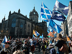 All Under One Banner Independence March, Edinburgh, Saturday 6th October 2018<br /> <br /> Pictured: Crowd at St Giles Cathedral <br /> <br /> (c) Aimee Todd | Edinburgh Elite media