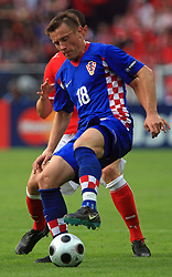 Ivica Olic of Croatia during the UEFA EURO 2008 Group B soccer match between Austria and Croatia at Ernst-Happel Stadium, on June 8,2008, in Vienna, Austria.  (Photo by Vid Ponikvar / Sportal Images)