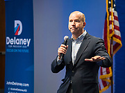 21 NOVEMBER 2019 - DES MOINES, IOWA: Former Congressman JOHN DELANEY (D-MD) speaks to employees at Nationwide Insurance. Delaney was the first Democrat to enter the race to become the Democratic nominee for the US Presidency. He talked to employees at the Nationwide Insurance building in Des Moines Monday. Delaney is on his 40th trip to Iowa. Iowa hosts the first presidential selection event of the 2020 election cycle. The Iowa caucuses are on February 3, 2020.                    PHOTO BY JACK KURTZ