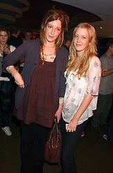 Left to right, KATE GOLDSMITH and her sister ALICE ROTHSCHILD at the opening party for a new bowling alley All Star Lanes, at Victoria House, Bloomsbury Place, London on 19th January 2006.<br />
