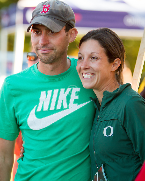 Boston College Invitational Cross Country race at Franklin Park; Andy and Maurica Powell, Univ of Oregon coaches