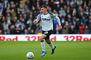 Derby County midfielder Jason Knight  on the ball during the EFL Sky Bet Championship match between Derby County and Blackburn Rovers at the Pride Park, Derby, England on 8 March 2020.