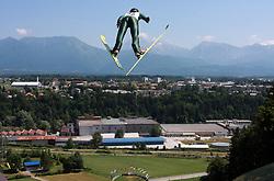 Jumps at FIS Continental cup Ski-jumping Summer Kranj, on July 6, 2008, Kranj, Slovenia. (Photo by Vid Ponikvar / Sportal Images)<br /> <br /> / Sportida)