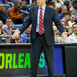 Oct 30, 2013; New Orleans, LA, USA; Indiana Pacers head coach Frank Vogel against the New Orleans Pelicans during the first quarter of a game at New Orleans Arena. Mandatory Credit: Derick E. Hingle-USA TODAY Sports