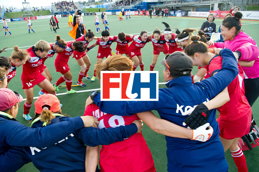 AUCKLAND - Sentinel Hockey World League final women<br /> Match id 10321<br /> Korea v England Bronze 1-0<br /> Korean win Bronz<br /> Foto:  Dancinhg Korean.<br /> WORLDSPORTPICS COPYRIGHT FRANK UIJLENBROEK
