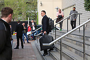Phil Jones Defender of Manchester United departs the Lowry hotel before the Manchester United vs Celta Vigo match  at Old Trafford, Manchester, United Kingdom on 11 May 2017. Photo by Phil Duncan.