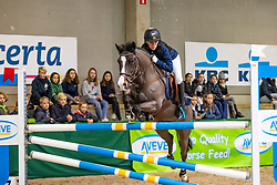Alexandre Rubin, BEL, Luca<br /> Nationaal Indoor Kampioenschap Pony's LRV <br /> Oud Heverlee 2019<br /> © Hippo Foto - Dirk Caremans<br /> 09/03/2019
