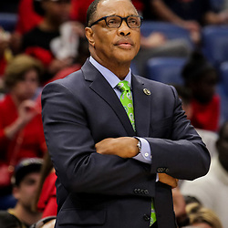 Oct 19, 2018; New Orleans, LA, USA; New Orleans Pelicans head coach Alvin Gentry against the Sacramento Kings during the first half at the Smoothie King Center. The Pelicans defeated the Kings 149-129. Mandatory Credit: Derick E. Hingle-USA TODAY Sports