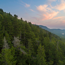 Dawn as seen from the lower slopes of Coburn Mountain in Northwest Somerset, Maine. Boundary Mountains region. Site of proposed CMP transmission corridor.