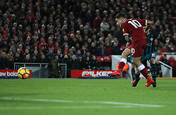 Philippe Coutinho of Liverpool scores his sides third goal - Mandatory by-line: Jack Phillips/JMP - 18/11/2017 - FOOTBALL - Anfield - Liverpool, England - Liverpool v Southampton - English Premier League