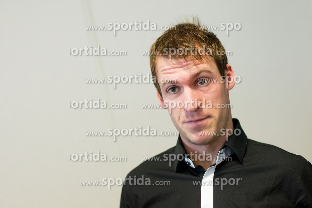 Grega Zemlja during press conference of TZS - Slovene Tennis Association after the end of the season 2012/13, on December 3, 2013 in BTC, Ljubljana, Slovenia. Photo by Vid Ponikvar / Sportida