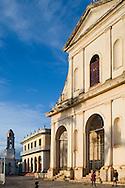The Iglesia Parroquial de la Santismima Trinidad (church of the Holy Trinity)<br /> in Plaza Mayor in late afternoon, Trinidad, Cuba<br /> Trinidad is a UNESCO World Heritage Site