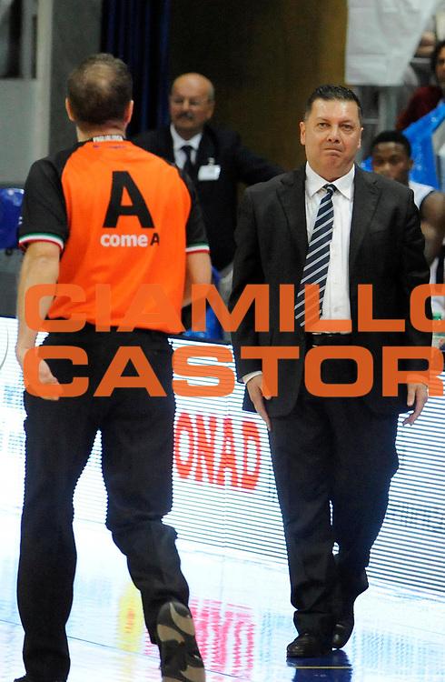 DESCRIZIONE : Bologna LegaDue  2012-13 BiancoBlu' Bologna FMC Ferentino<br /> GIOCATORE : Coach Stefano Salieri<br /> SQUADRA : BiancoBlu' Bologna<br /> EVENTO : Campionato LegaDue  2012-2013<br /> GARA :  BiancoBlu' Bologna FMC Ferentino<br /> DATA : 05/05/2013<br /> CATEGORIA : Coach Fair Play Delusione <br /> SPORT : Pallacanestro<br /> AUTORE : Agenzia Ciamillo-Castoria/A.Giberti<br /> Galleria : LegaDue Basket 2012-2013<br /> Fotonotizia : Bologna LegaDue  2012-13 BiancoBlu' Bologna FMC Ferentino<br /> Predefinita :