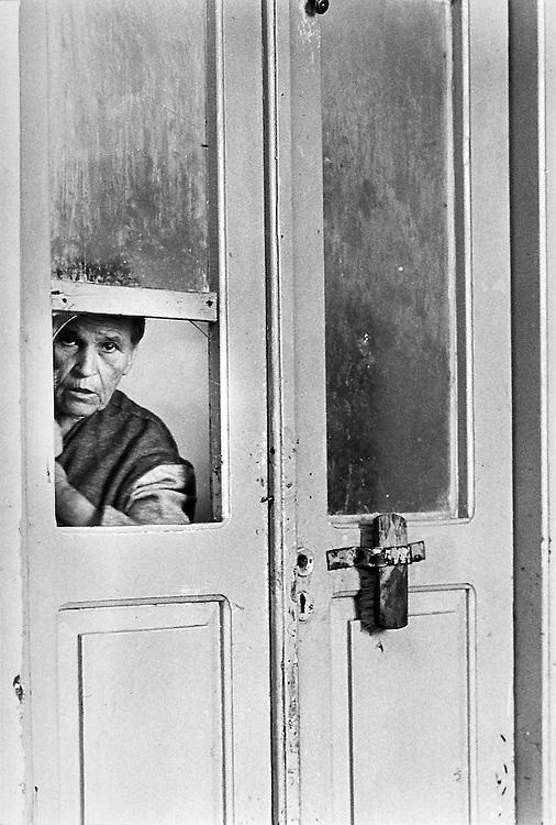 Griekenland, Leros, 19900115. Psychiatrische kliniek op het eiland Leros in Griekenland