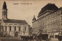 Zagreb : Preradovičev trg. <br /> <br /> ImpresumBudimpešta : Vasúti Levelezőlapárusitás, [1916].<br /> Materijalni opis1 razglednica : tisak ; 8,9 x 13,8 cm.<br /> NakladnikVasuti Levelezőlapárusitás<br /> Vrstavizualna građa • razglednice<br /> ZbirkaZbirka razglednica • Grafička zbirka NSK<br /> ProjektPozdrav iz Hrvatske • Pozdrav iz Zagreba<br /> Formatimage/jpeg<br /> PredmetZagreb –– Trg Petra Preradovića<br /> SignaturaRZG-PRER-2<br /> Obuhvat(vremenski)20. stoljeće<br /> NapomenaRazglednica je putovala 1916. godine.<br /> PravaJavno dobro<br /> Identifikatori000953942<br /> NBN.HRNBN: urn:nbn:hr:238:928578 <br /> <br /> Izvor: Digitalne zbirke Nacionalne i sveučilišne knjižnice u Zagrebu