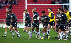 Bristol Rugby warm up - Mandatory by-line: Robbie Stephenson/JMP - 15/04/2016 - RUGBY - Ashton Gate - Bristol, England - Bristol Rugby v Moseley  - Green King IPA Championship