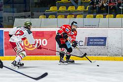 13.01.2019, Ice Rink, Znojmo, CZE, EBEL, HC Orli Znojmo vs HCB Suedtirol Alperia, 38. Runde, im Bild v.l. Brett Findlay (HCB Sudtirol Alperia) David Bartos (HC Orli Znojmo) // during the Erste Bank Eishockey League 38th round match between HC Orli Znojmo and HCB Suedtirol Alperia at the Ice Rink in Znojmo, Czechia on 2019/01/13. EXPA Pictures © 2019, PhotoCredit: EXPA/ Rostislav Pfeffer