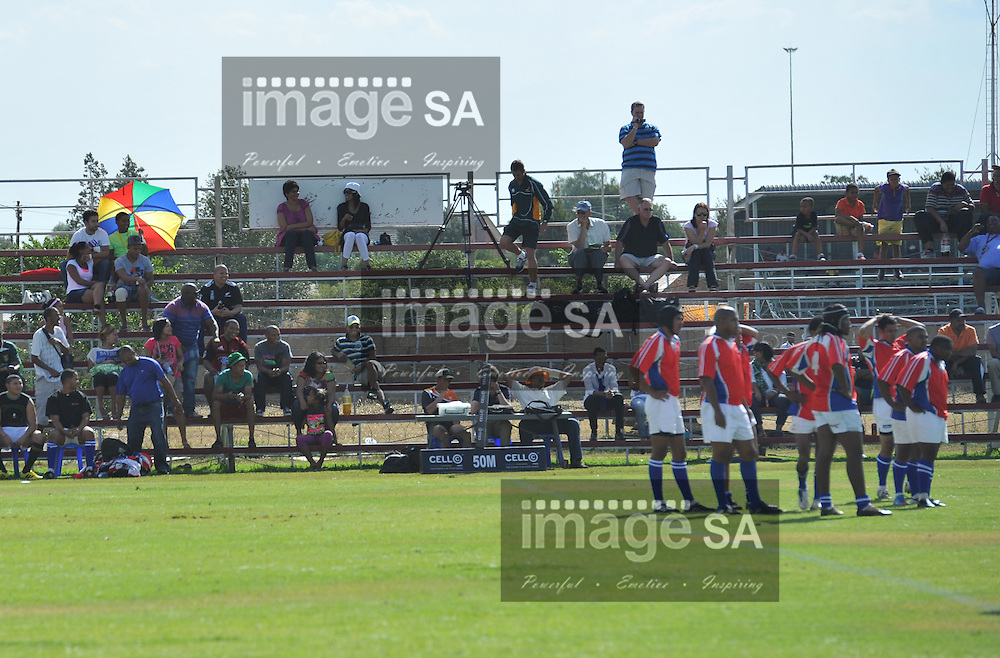 BLOEMFONTEIN, SOUTH AFRICA - Saturday 16 March 2013, The stands during match 38 of the Cell C Community Cup rugby match between Bloemfontein Crusaders and Noordelikes held at the Clive Solomon stadium, Bloemfontein..Photo by ImageSA