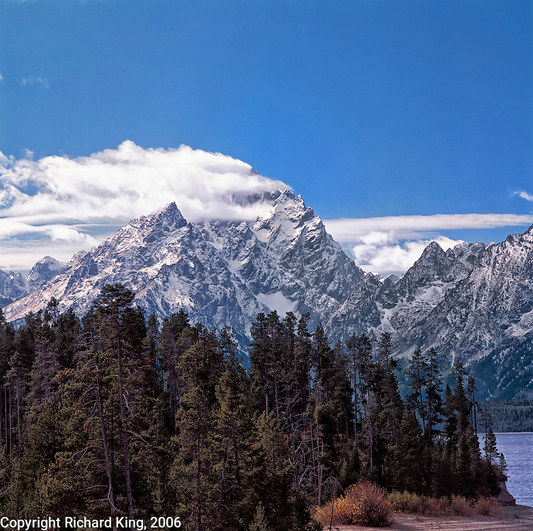 Grand Tetons with Summit Cloud