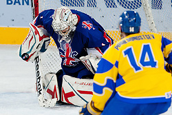 Stephen Murphy of Great Britain with a save during ice-hockey match between Ukraine and Great Britain at IIHF World Championship DIV. I Group A Slovenia 2012, on April 18, 2012 at SRC Stozice, Ljubljana, Slovenia. (Photo By Matic Klansek Velej / Sportida.com)