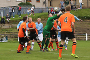 - Dundee (light blue) v Dundee United (Tangerine) - fans charity derby at Thomson Park, Lochee in aid Cancer Research UK<br /> <br />  - &copy; David Young - www.davidyoungphoto.co.uk - email: davidyoungphoto@gmail.com