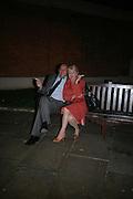 Anahita Resort launch party. Wallace Collection. London. 12 September 2007. ( Photo by Dafydd Jones)  Leon Shaier;Linda Steuart-DO NOT ARCHIVE-© Copyright Photograph by Dafydd Jones. 248 Clapham Rd. London SW9 0PZ. Tel 0207 820 0771. www.dafjones.com.