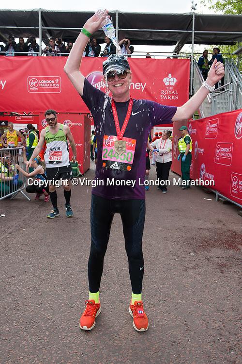 Chris Evans (Radio 2 presenter running for Children In Need). The Virgin Money London Marathon, 23rd April 2017.<br /> <br /> Photo: Joanne Davidson for Virgin Money London Marathon<br /> <br /> For further information: media@londonmarathonevents.co.uk