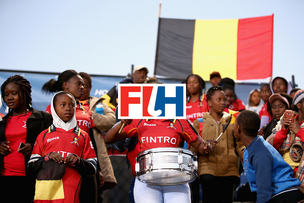 JOHANNESBURG, SOUTH AFRICA - JULY 17:  People from the Little Rose Children Centre are seen enjoying the pre match atmosphere prior to the Group B match between South Africa and Belgium on day five of the FIH Hockey World League - Men's Semi Finals on July 17, 2017 in Johannesburg, South Africa.  (Photo by Jan Kruger/Getty Images for FIH)