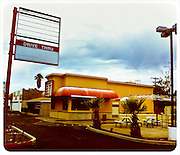 12 NOVEMBER 2011 - PHOENIX, AZ: An abandoned and closed Filiberto's Mexican restaurant on N 24th St south of Indian School Rd in Phoenix, AZ.    PHOTO BY JACK KURTZ