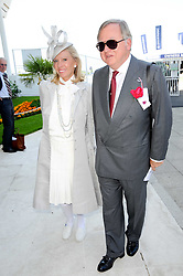 SIR ANTHONY & LADY BAMFORD at the Investec Ladies Day at Epsom Racecourse, Surrey on 4th June 2010.