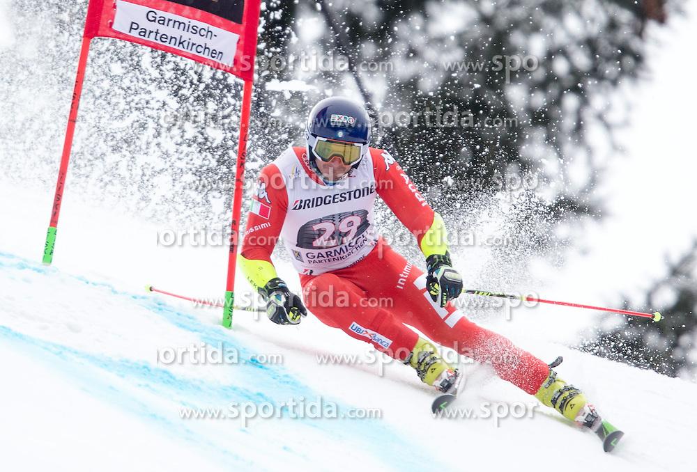 01.03.2015, Kandahar, Garmisch Partenkirchen, GER, FIS Weltcup Ski Alpin, Riesenslalom, Herren, 1. Lauf, im Bild Massimiliano Blardone (ITA) // Massimiliano Blardone of Italy in action during 1st run for the men's Giant Slalom of the FIS Ski Alpine World Cup at the Kandahar course, Garmisch Partenkirchen, Germany on 2015/03/01. EXPA Pictures © 2015, PhotoCredit: EXPA/ Johann Groder