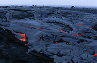 USA Hawaii Big Island Volcanos National Park cooling lava