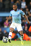 Manchester City midfielder Raheem Sterling (7) during the Champions League match between Manchester City and Dinamo Zagreb at the Etihad Stadium, Manchester, England on 1 October 2019.