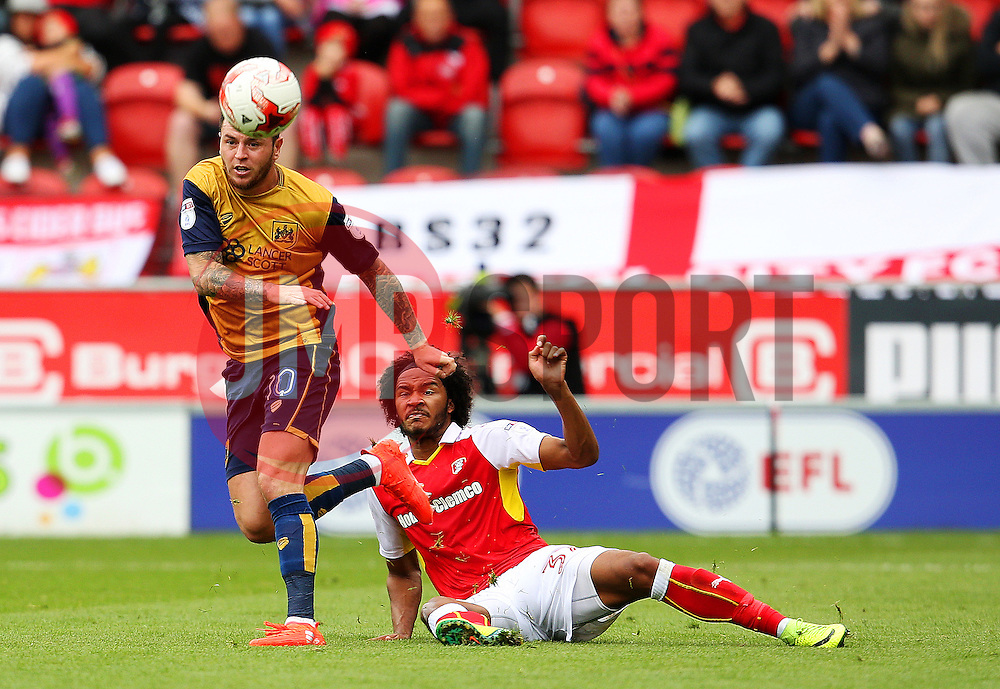 Lee Tomlin of Bristol City avoids a tackle from Isaiah Brown of Rotherham United - Mandatory by-line: Matt McNulty/JMP - 10/09/2016 - FOOTBALL - Aesseal New York Stadium - Rotherham, England - Rotherham United v Bristol City - Sky Bet Championship