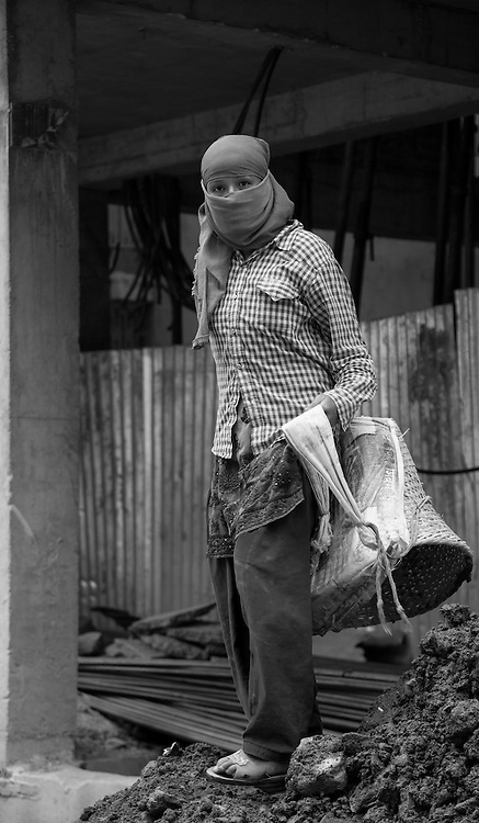 Female Brick Carrier, Kathmandu, Nepal