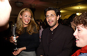Cat Deeley and Danny Cohen, 'Feast Food that celebrates Life' by Nigella Lawson- book launch. Cadogan Hall, Sloane Terace. 11 October 2004. ONE TIME USE ONLY - DO NOT ARCHIVE  © Copyright Photograph by Dafydd Jones 66 Stockwell Park Rd. London SW9 0DA Tel 020 7733 0108 www.dafjones.com